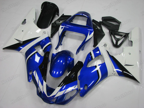 2000 2001 Yamaha R1 blue and white fairings