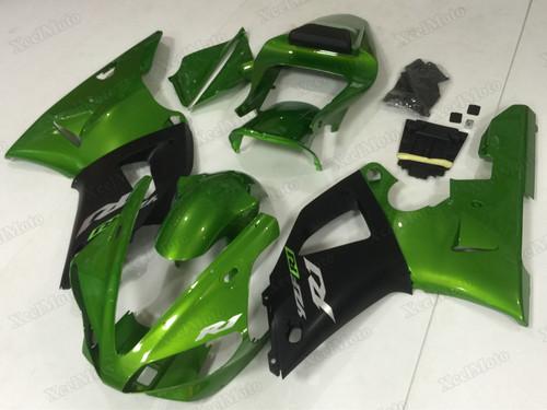 2000 2001 Yamaha R1 green and black aftermarket fairings