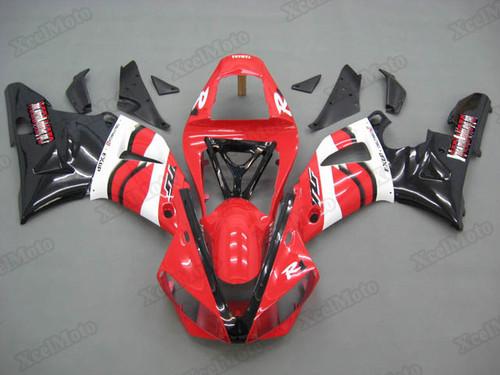2000 2001 Yamaha R1 red and black fairings and bodywork