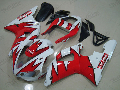2000 2001 Yamaha R1 red and white fairings and bodywork