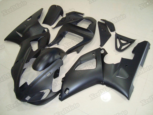 2000 2001 Yamaha R1 matte black fairings and body kits, Suzuki 2000 2001 Yamaha R1 OEM replacement fairings and bodywork.