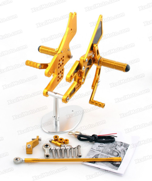 Motorcycle rear sets assembly for Honda CBR600RR 2003 2004 2005 2006 are design to improve the ground clearance, crash worthiness and overall good looks of your bike