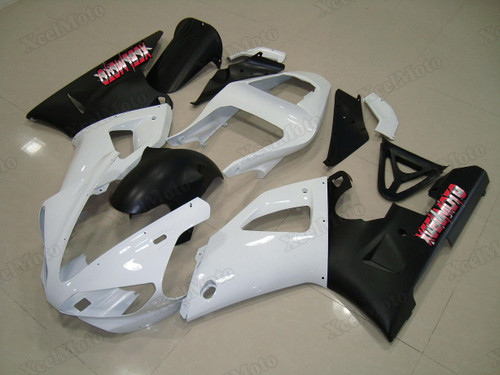 2000 2001 Yamaha R1 white and black fairings and body kits, Suzuki 2000 2001 Yamaha R1 OEM replacement fairings and bodywork.