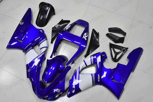 Yamaha R1 1998 1999 blue and white fairings and body kits