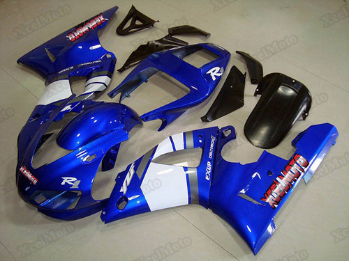 1998 1999 Yamaha R1 blue and white fairing and bodywork