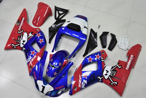 1998 1999 Yamaha R1 custom fairings red and blue paint scheme