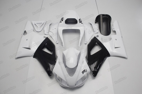 1998 1999 Yamaha R1 white and black fairings and body kits, Suzuki 1998 1999 Yamaha R1 OEM replacement fairings and bodywork.