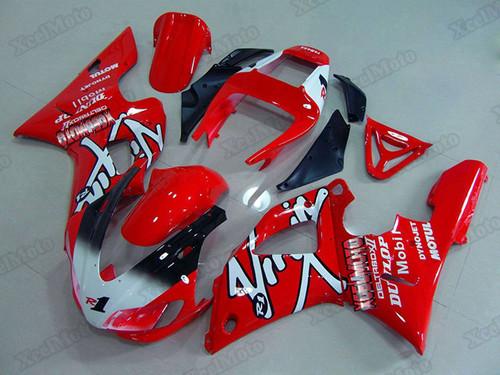 1998 1999 Yamaha R1 red fairings and body kits, Suzuki 1998 1999 Yamaha R1 OEM replacement fairings and bodywork.