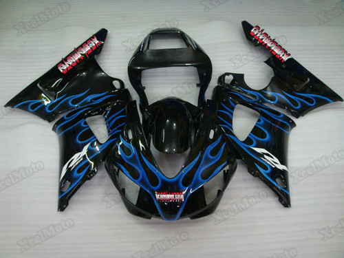 1998 1999 Yamaha R1 blue flame fairings and body kits, Suzuki 1998 1999 Yamaha R1 OEM replacement fairings and bodywork.