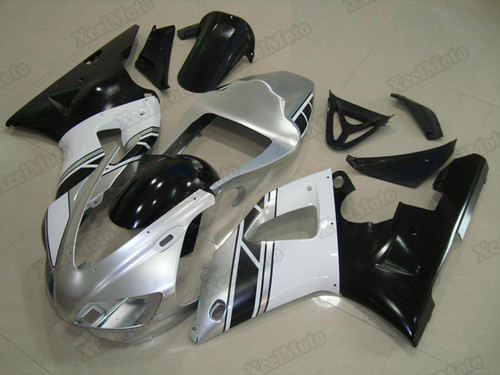 1998 1999 Yamaha R1 silver and black fairings and body kits, Suzuki 1998 1999 Yamaha R1 OEM replacement fairings and bodywork.