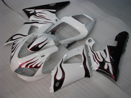 1998 1999 Yamaha R1 red flame fairings and body kits, Suzuki 1998 1999 Yamaha R1 OEM replacement fairings and bodywork.