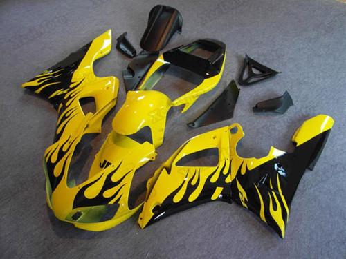 1998 1999 Yamaha R1 black flame fairings and body kits, Suzuki 1998 1999 Yamaha R1 OEM replacement fairings and bodywork.