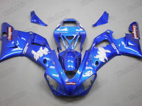 1998 1999 Yamaha R1 blue fairings and body kits, Suzuki 1998 1999 Yamaha R1 OEM replacement fairings and bodywork.