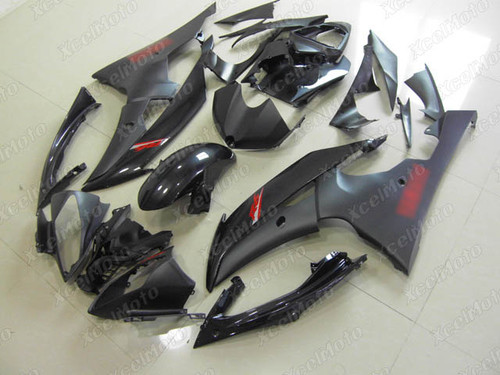 2008 to 2015 2016 YAMAHA R6 black fairing with red stickers
