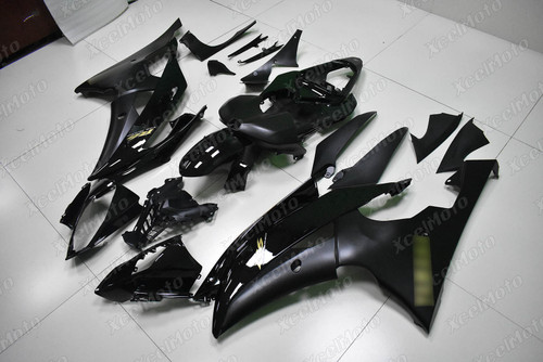 2008 to 2015 2016 YAMAHA R6 black fairing with gold stickers