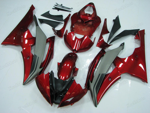 Yamaha R6 2008 2009 2010 to 2015 2016 red and grey OEM replacement fairings