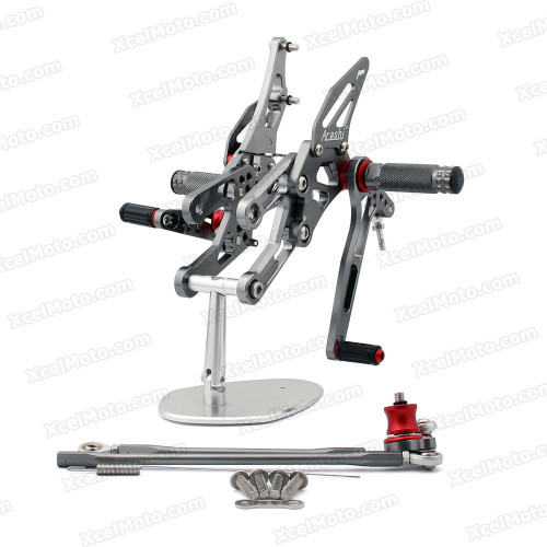 Motorcycle rear sets assembly for Honda CBR1000RR 2004 2005 2006 2007are design to improve the ground clearance, crash worthiness and overall good looks of your bike