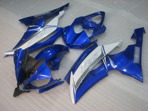 2008 2009 2010 to 2015 2016 Yamaha R6 blue and white fairing