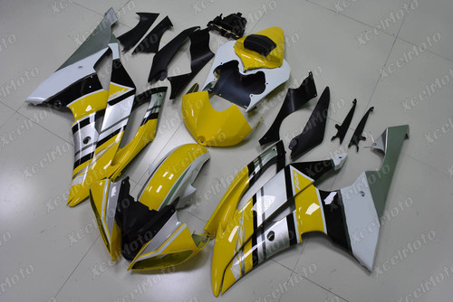 2008 2009 2010 to 2015 2016 Yamaha R6 yellow and silver fairing