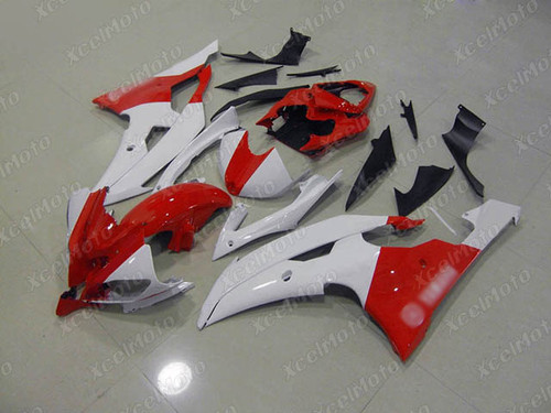 2008 2009 2010 to 2015 2016 Yamaha R6 white and red fairing