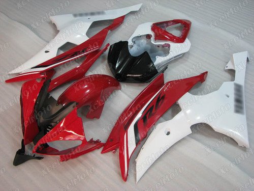 2008 2009 2010 to 2015 2016 Yamaha R6 red and white fairing