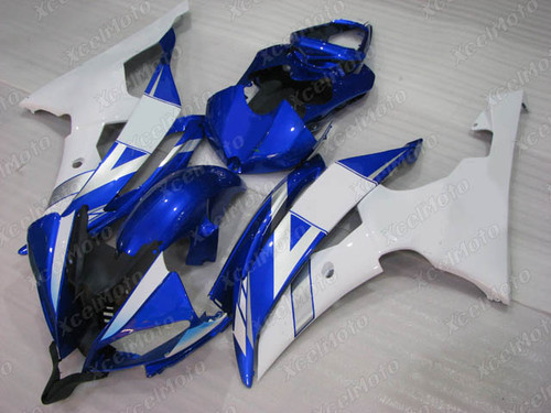 2008 2009 2010 to 2015 2016 Yamaha R6 blue and white fairing kit