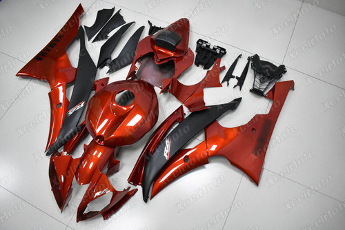 2008 2009 2010 to 2015 2016 Yamaha R6 candy red and black fairing