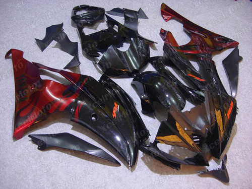 2008 2009 2010 to 2015 2016 Yamaha R6 red and black fairing