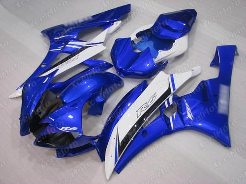 2006 2007 Yamaha YZF-R6 blue and white fairing kit