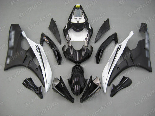 2006 2007 YAMAHA R6 black and white fairing