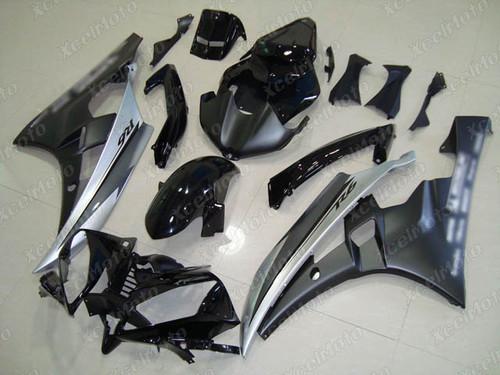 2006 2007 YAMAHA R6 matte black and matte silver fairing