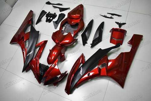 Yamaha R6 2006 2007 candy red and matte black