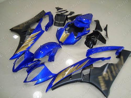 2006 2007 YAMAHA R6 blue and black fairing and bodywork