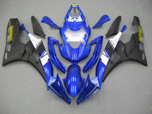 2006 2007 YAMAHA R6 blue and black fairing