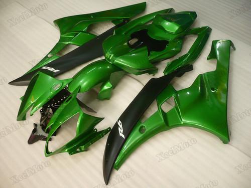 2006 2007 Yamaha R6 green fairings and body kits, Suzuki 2006 2007 Yamaha R6 OEM replacement fairings and bodywork.