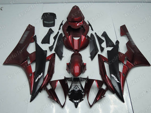 2006 2007 YAMAHA R6 red and black fairing and body kit