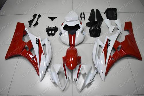2006 2007 YAMAHA R6 red and white fairing