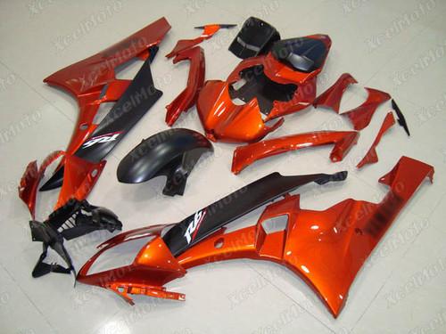 2006 2007 YAMAHA R6 OEM fairing orange and black scheme