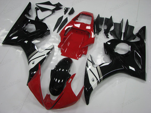 Yamaha R6 2003 2004 2005 OEM fairings red and black color