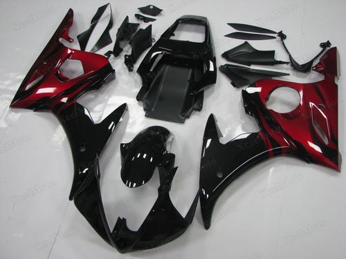 Yamaha R6 2003 2004 2005 OEM fairings red and black