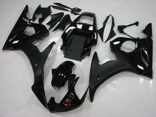 Yamaha R6 2003 2004 2005 black fairings and bodywork
