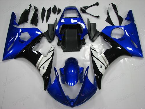 Yamaha R6 2003 2004 2005 OEM fairings blue and black