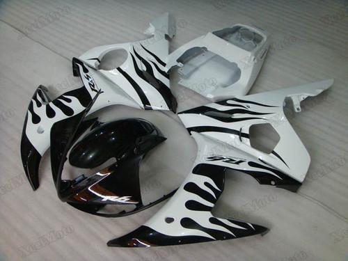 2003 2004 2005 Yamaha R6 ghost flame fairings and body kits, Suzuki 2003 2004 2005 Yamaha R6 OEM replacement fairings and bodywork.