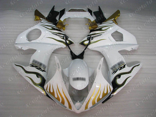 2003 2004 2005 Yamaha YZF R6 fairing white color with gold flame
