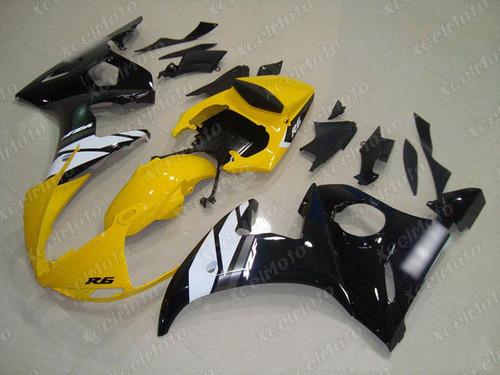 2003 2004 2005 Yamaha YZF R6 yellow and black fairing