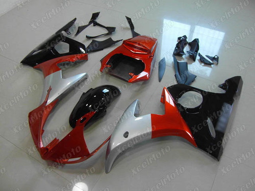 2003 2004 2005 Yamaha YZF R6 red silver and black fairing