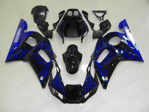 1999 2000 2001 2002 YAMAHA R6 blue flame fairing