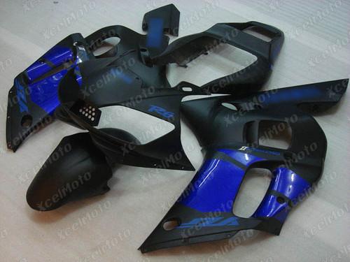 1999 2000 2001 2002 YAMAHA R6 fairing black and blue color
