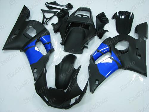 1999 2000 2001 2002 YAMAHA R6 black and blue fairing