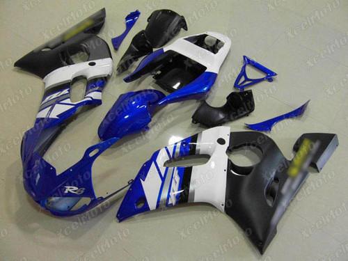 1999 2000 2001 2002 YAMAHA R6 blue white and black fairing